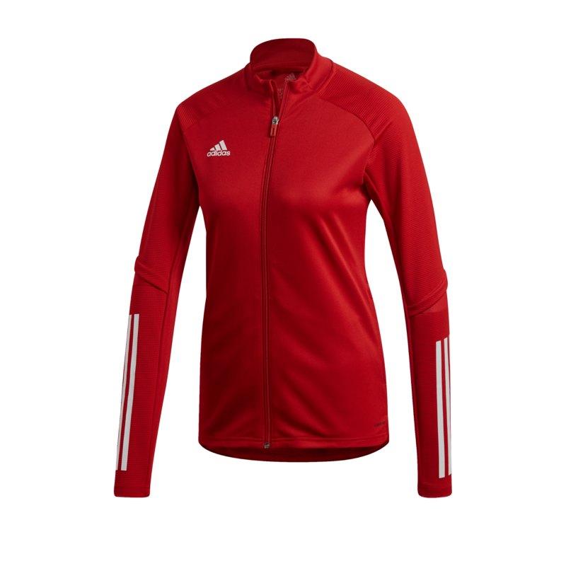 adidas Condivo 20 Trainingsjacke Damen Rot Weiss - rot