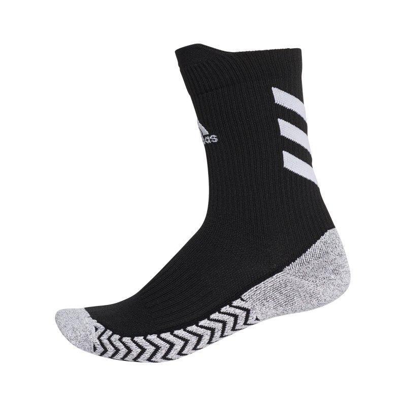 adidas Alphaskin Traxion Socken Schwarz Weiss - schwarz