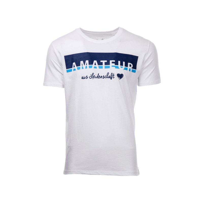 FuPa Shirt Amateur aus Leidenschaft Weiss - weiss