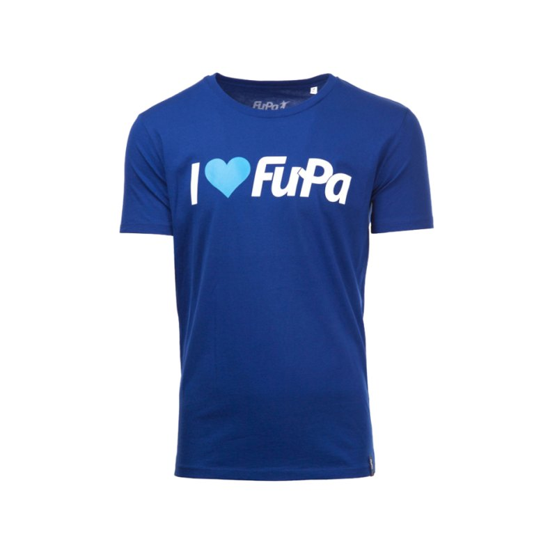 FuPa Shirt I love FuPa Royal Blau - blau
