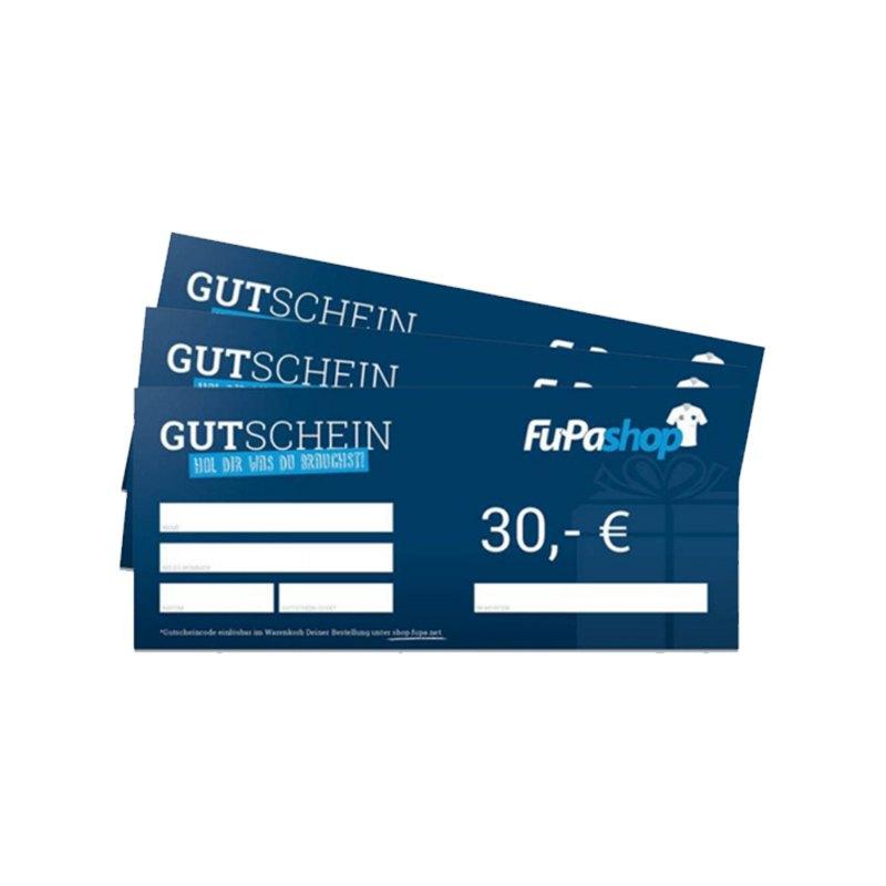 30€ Gutschein - blau