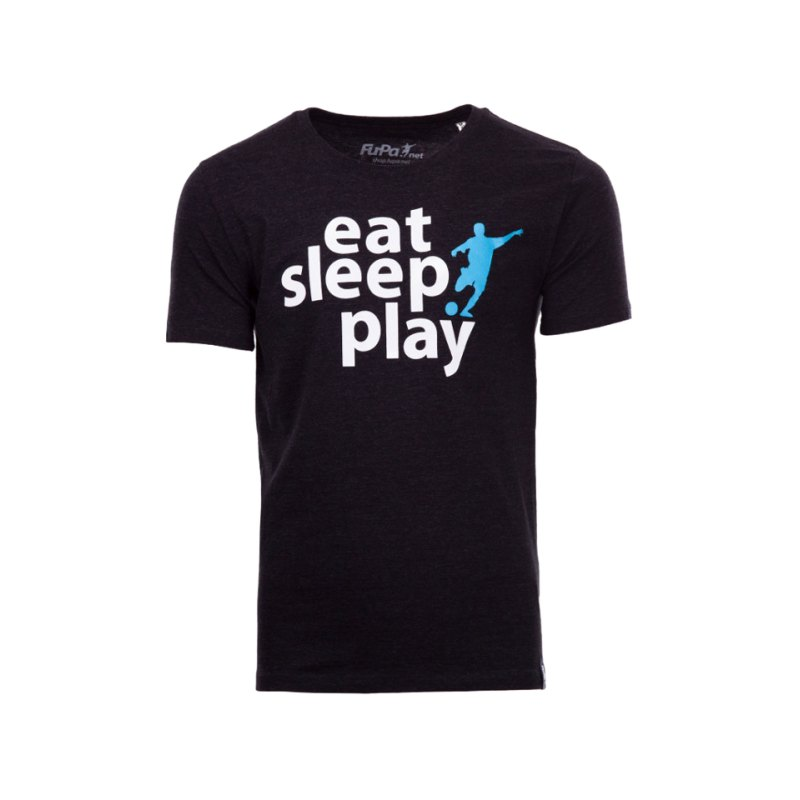 FuPa Shirt Eat Sleep Play Heather Schwarz Denim - schwarz
