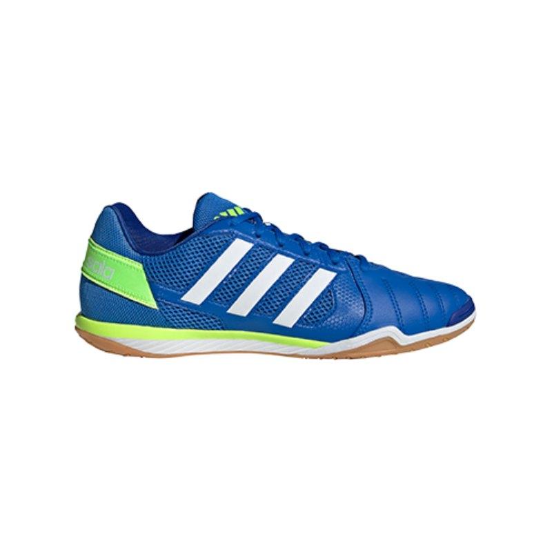 adidas Top Sala IN Halle Blau Grün Weiss - blau