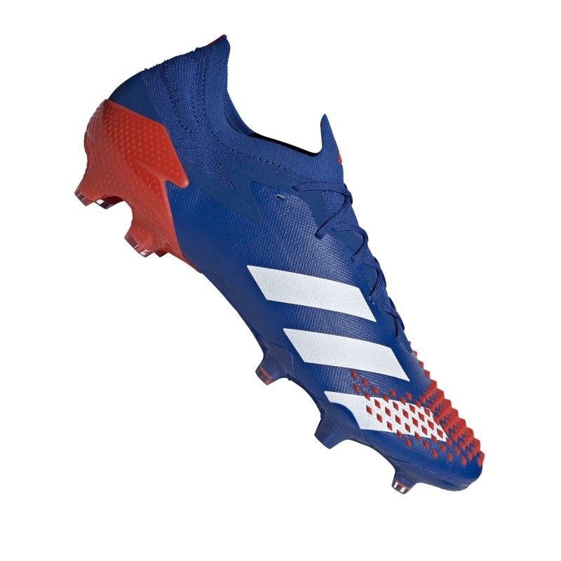 adidas Predator 20.1 L FG Blau Rot - blau