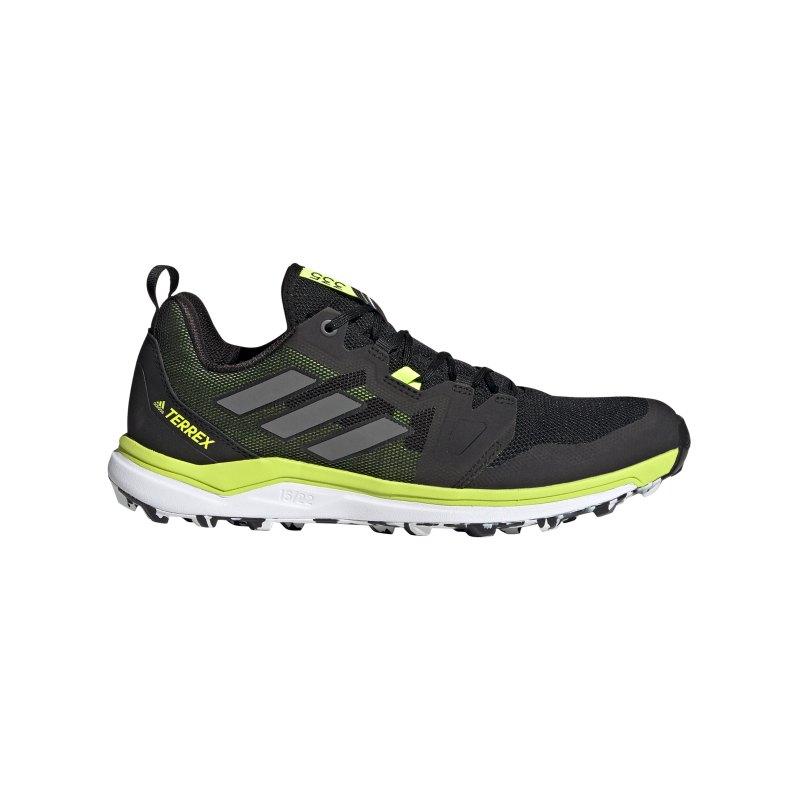 adidas Terrex Agravic Running Schwarz Grün - schwarz