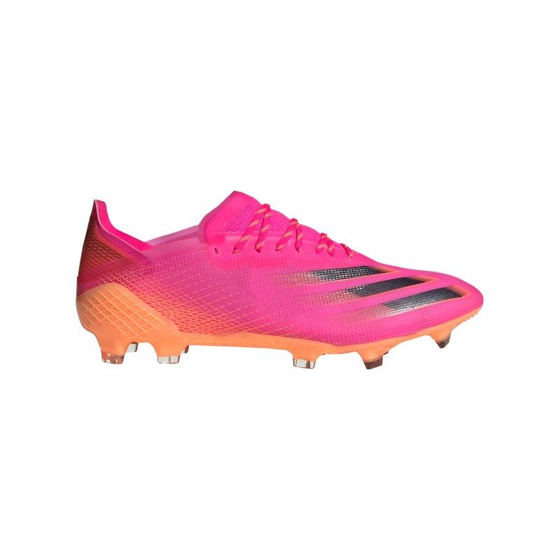 adidas X GHOSTED.1 FG Superspectral Pink Schwarz Orange - pink
