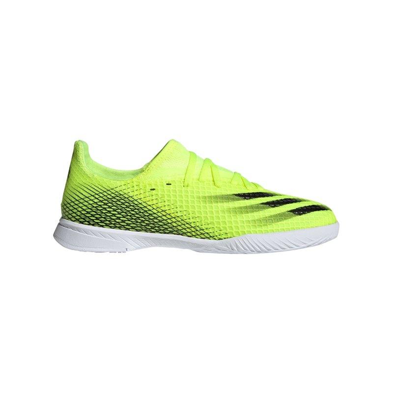 adidas X GHOSTED.3 IN Halle Superlative J Kids Gelb Schwarz - gelb