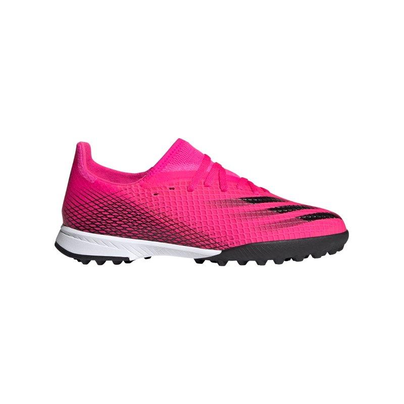 adidas X GHOSTED.3 TF Superspectral J Kids Pink Schwarz Orange - pink