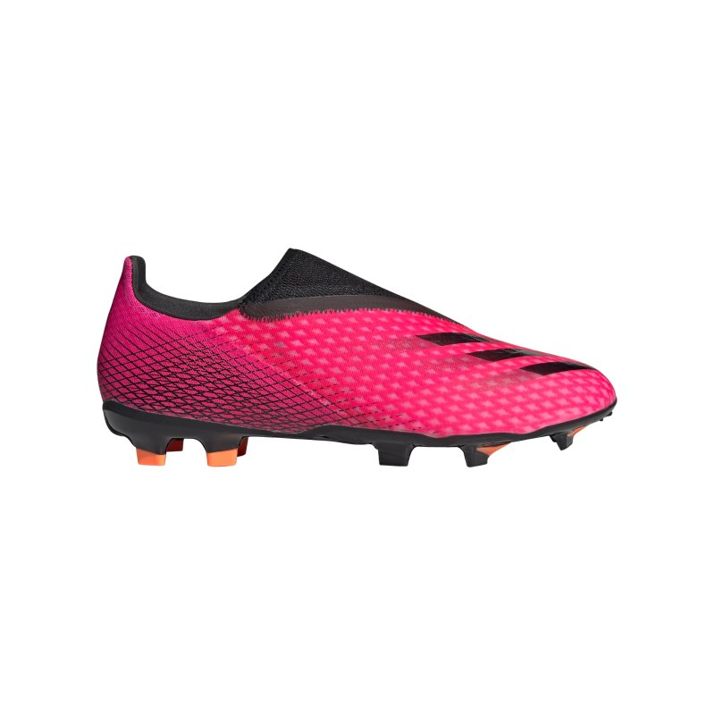 adidas X GHOSTED.3 LL FG Superspectral Pink Schwarz Orange - pink