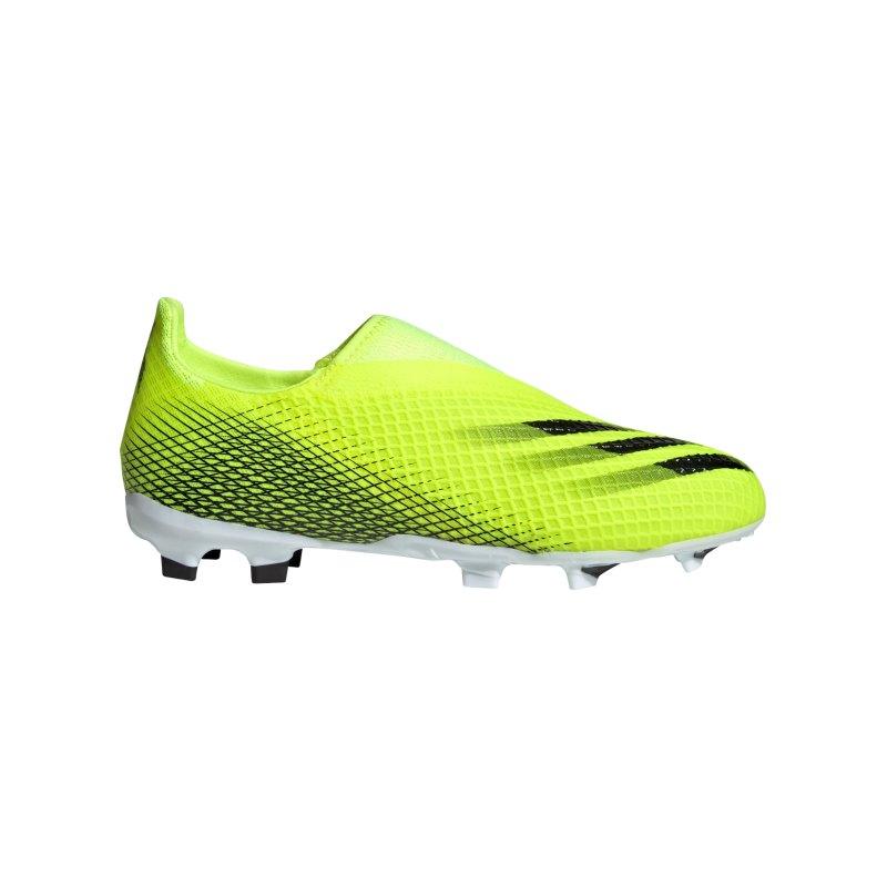 adidas X GHOSTED.3 LL FG Superlative J Kids Gelb - gelb