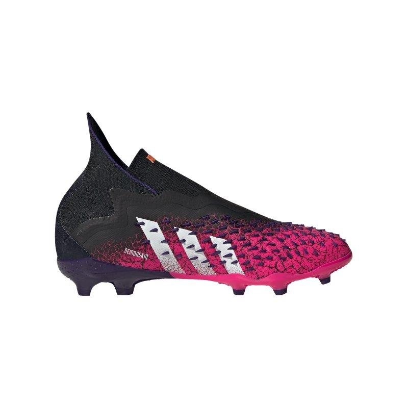 adidas Predator FREAK+ FG Superspectral J Kids Schwarz Weiss Pink - schwarz