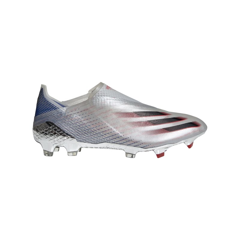 adidas X GHOSTED+ FG Showpiece Silber Schwarz Rot - silber