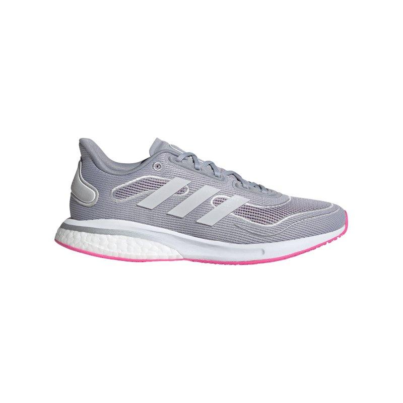 adidas Supernova Running Damen Silber Weiss Pink - silber