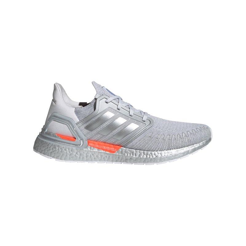 adidas Ultraboost 20 DNA Running Grau Orange - grau