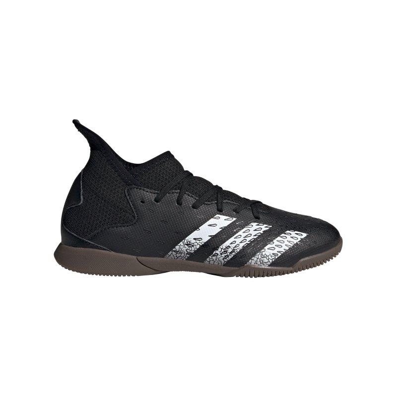 adidas Predator FREAK.3 IN Halle Superstealth J Kids Schwarz - schwarz