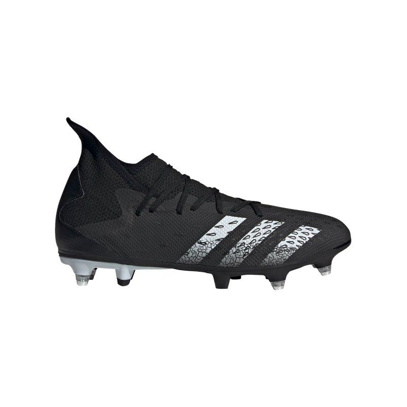 adidas Predator FREAK.3 SG Superstealth Schwarz Weiss - schwarz