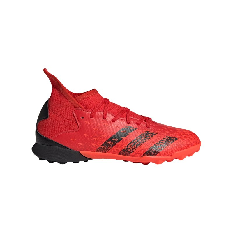 adidas Predator FREAK.3 TF Meteorite J Kids Rot Schwarz - rot