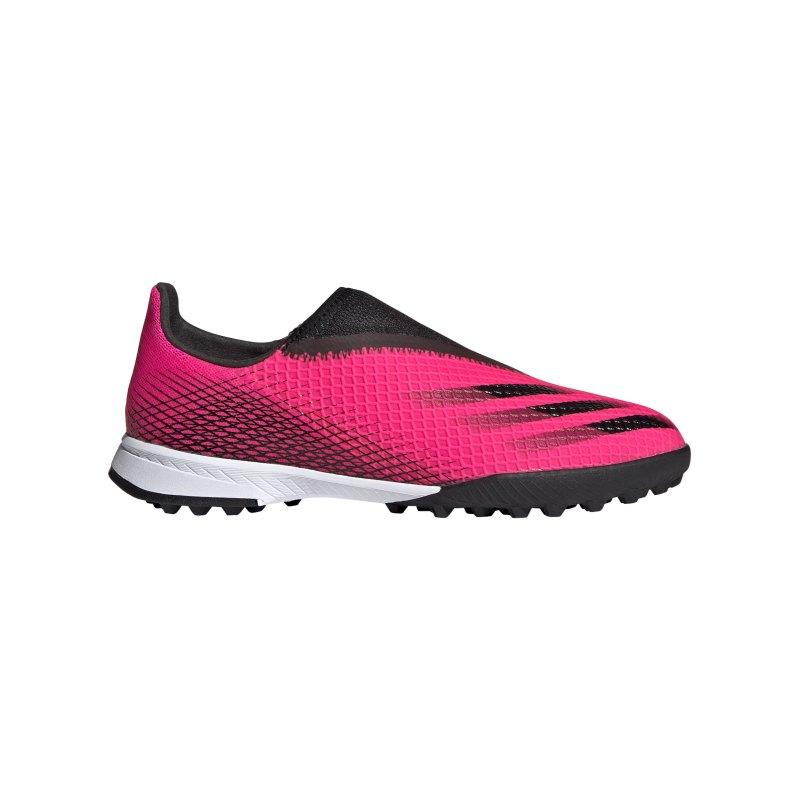 adidas X GHOSTED.3 LL TF Superspectral J Kids Pink Schwarz Orange - pink