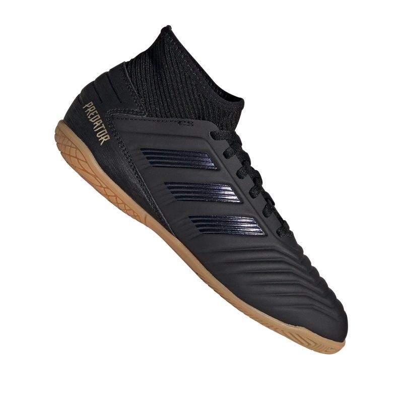 adidas Predator 19.3 IN J Halle Kids Schwarz - schwarz
