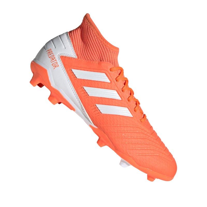 adidas Predator 19.3 FG Damen Orange Weiss - orange