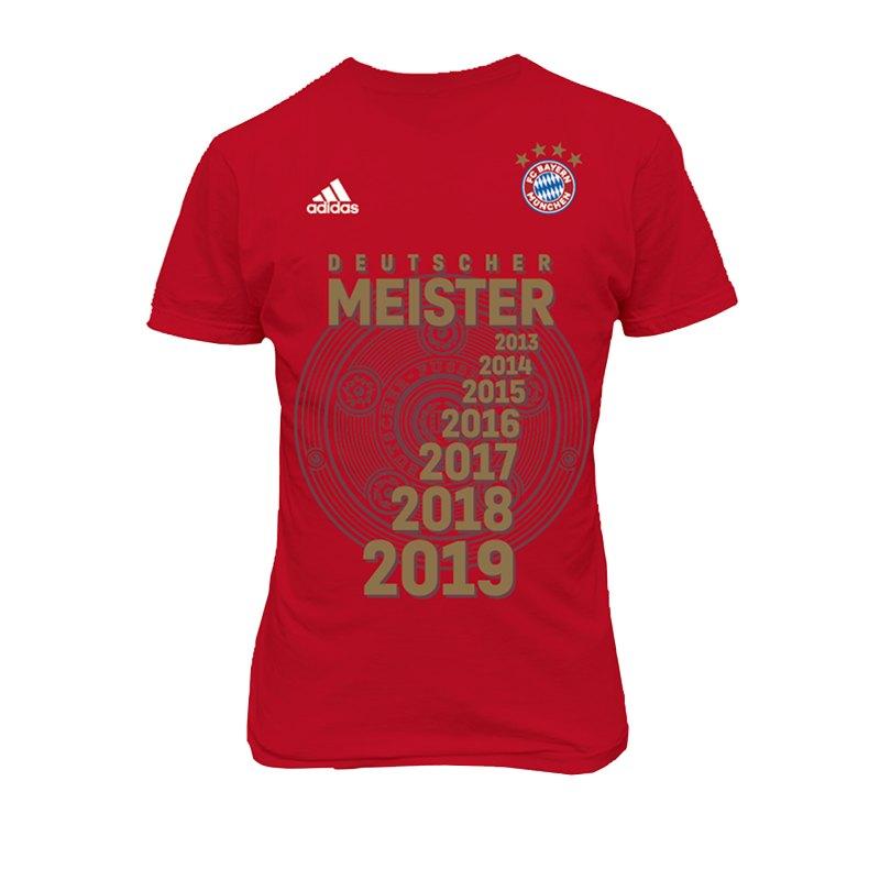 adidas FC Bayern München Meister Shirt 2019 - rot