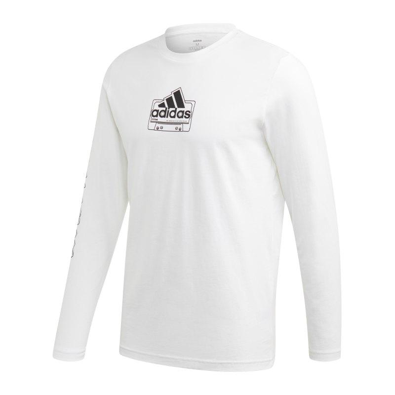 adidas Cassette Tape Shirt langarm Weiss - weiss