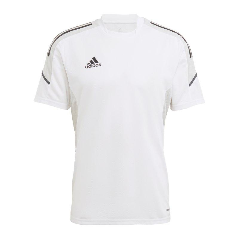 adidas Condivo 21 Trainingsshirt Weiss Schwarz - weiss