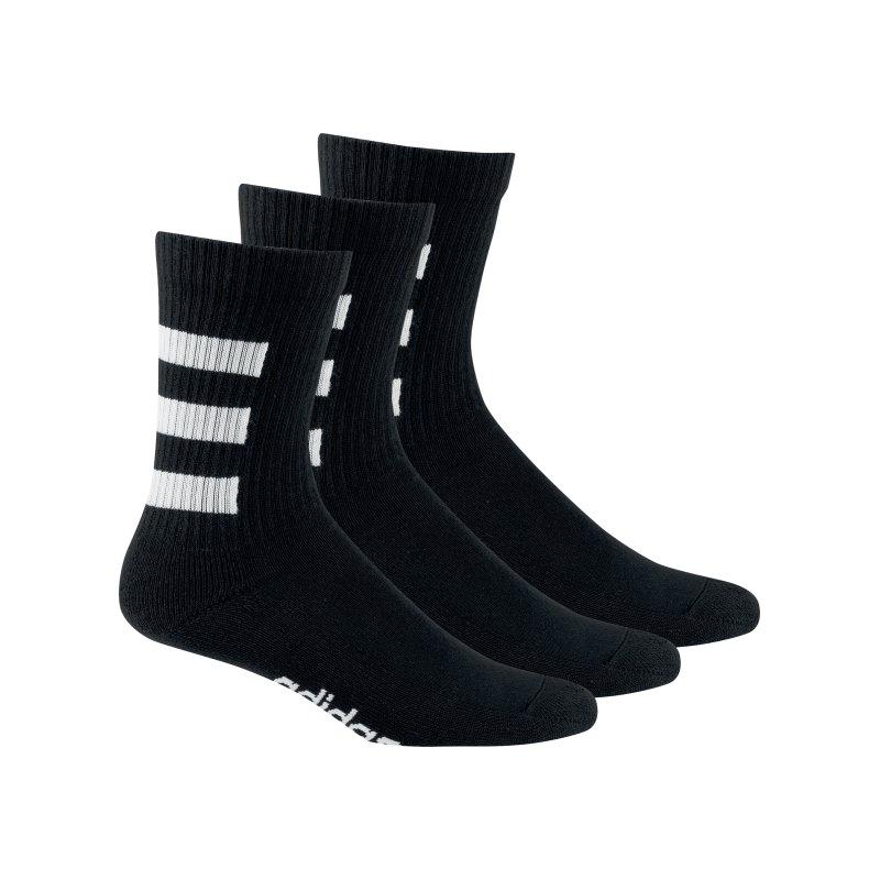 adidas HC Crew Socken 3er Pack Schwarz Weiss - schwarz