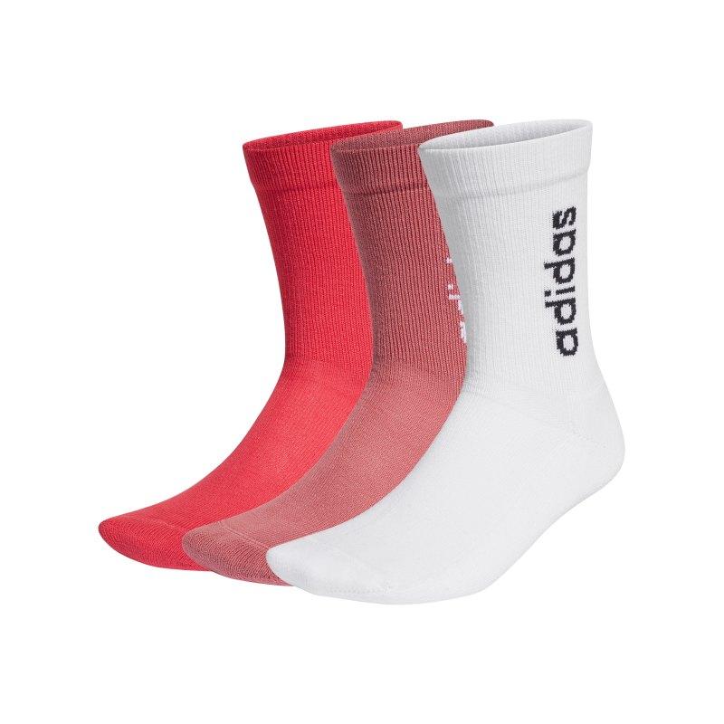 adidas HC Crew Socken 3er Pack Weiss Rot - weiss
