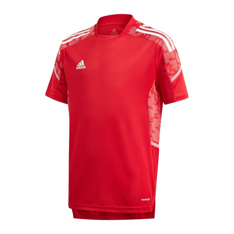 adidas Condivo 21 Trainingsshirt Kids Rot Weiss - rot