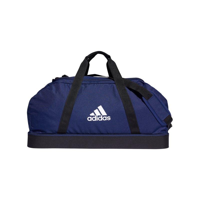 adidas Tiro Duffel Bag Gr. L mit Bodenfach Blau - blau