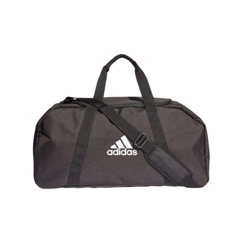 adidas Tiro Duffle Bag Gr. M Schwarz Weiss - schwarz