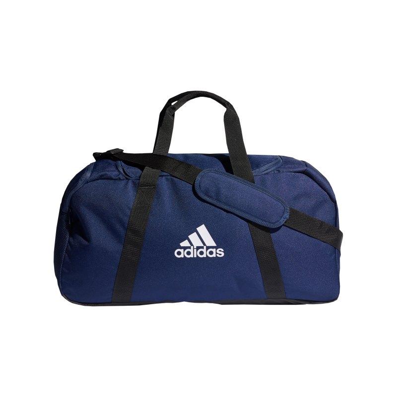 adidas Tiro Duffle Bag Gr. M Blau Weiss - blau