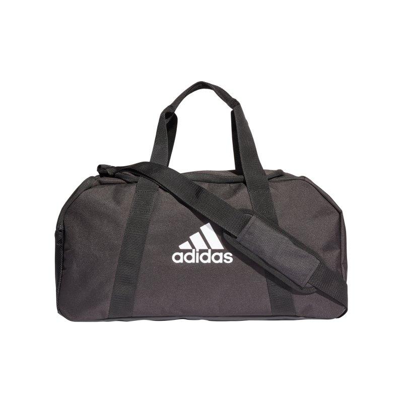adidas Tiro Duffle Bag Gr. S Schwarz Weiss - schwarz