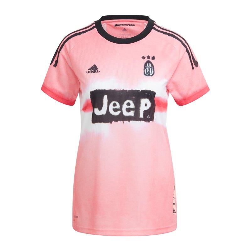 adidas Juventus Turin Human Race Trikot Damen Pink - pink