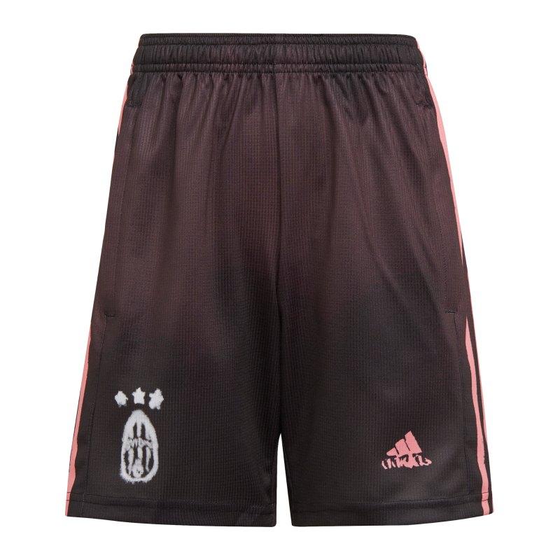 adidas Juventus Turin HR Short Kids Schwarz - schwarz