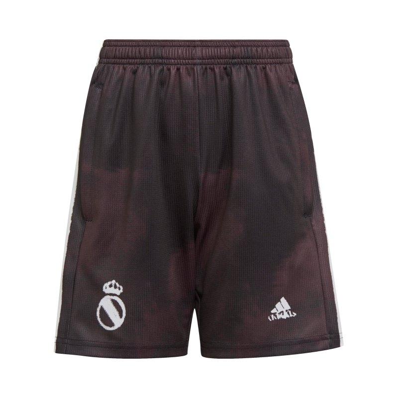 adidas Real Madrid Human Race Short Kids Schwarz - schwarz