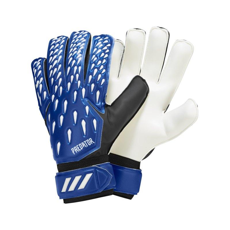 adidas Predator Superlativ Torwarthandschuh Blau Weiss - blau
