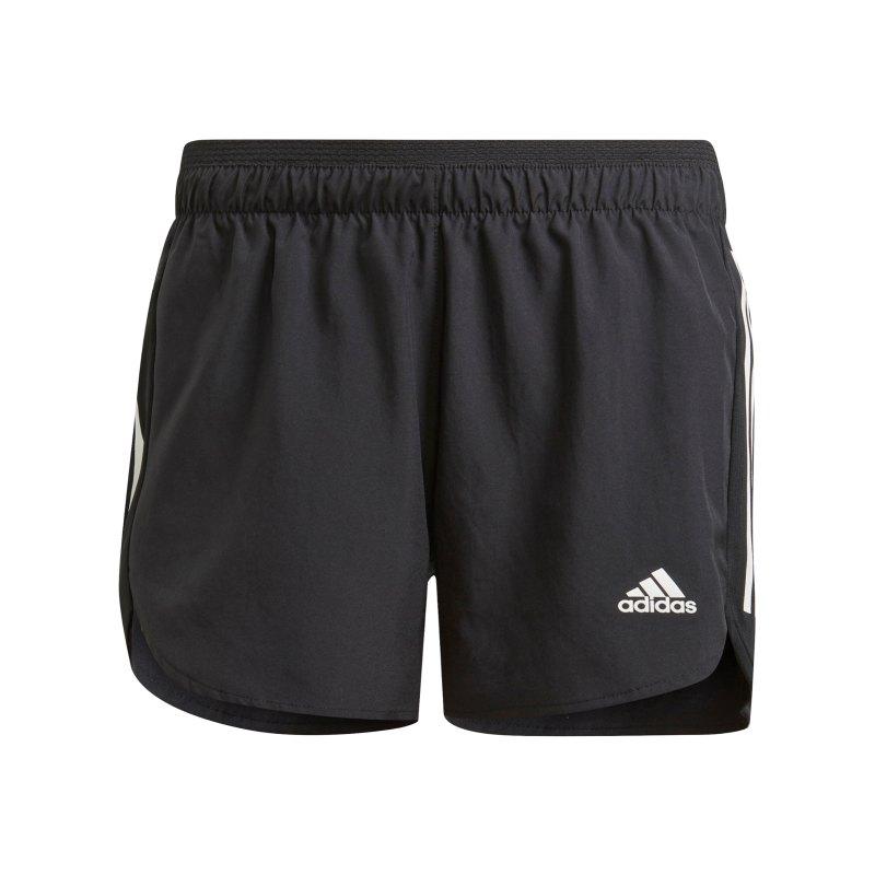 adidas Run It Short Running Damen Schwarz Weiss - schwarz