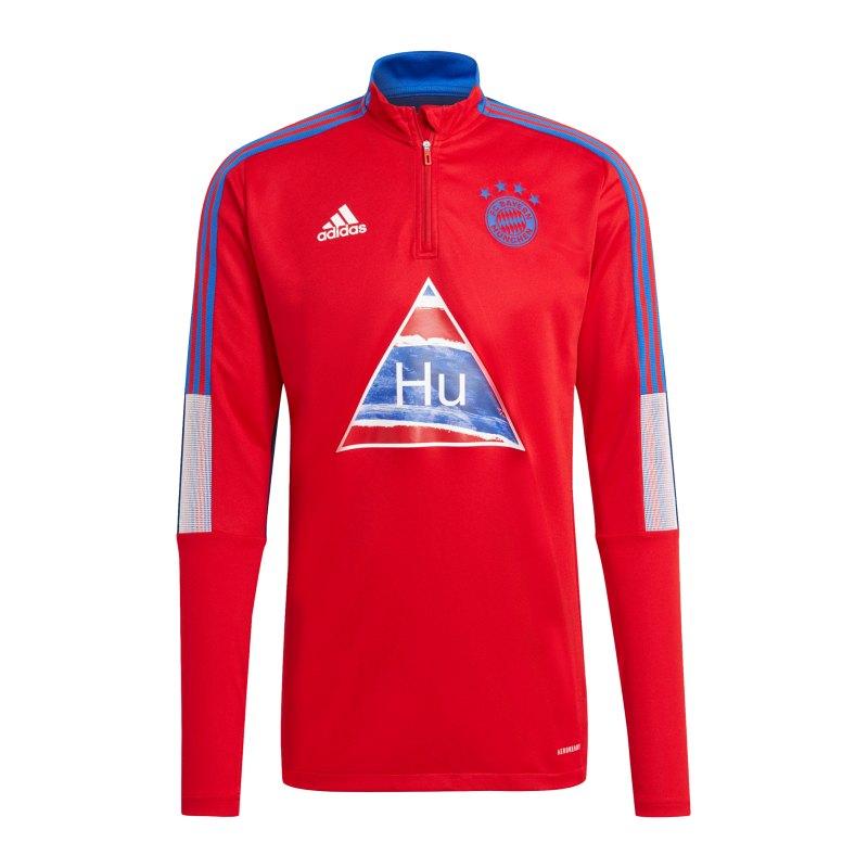 adidas FC Bayern München Human Race Trainingstop Rot - rot