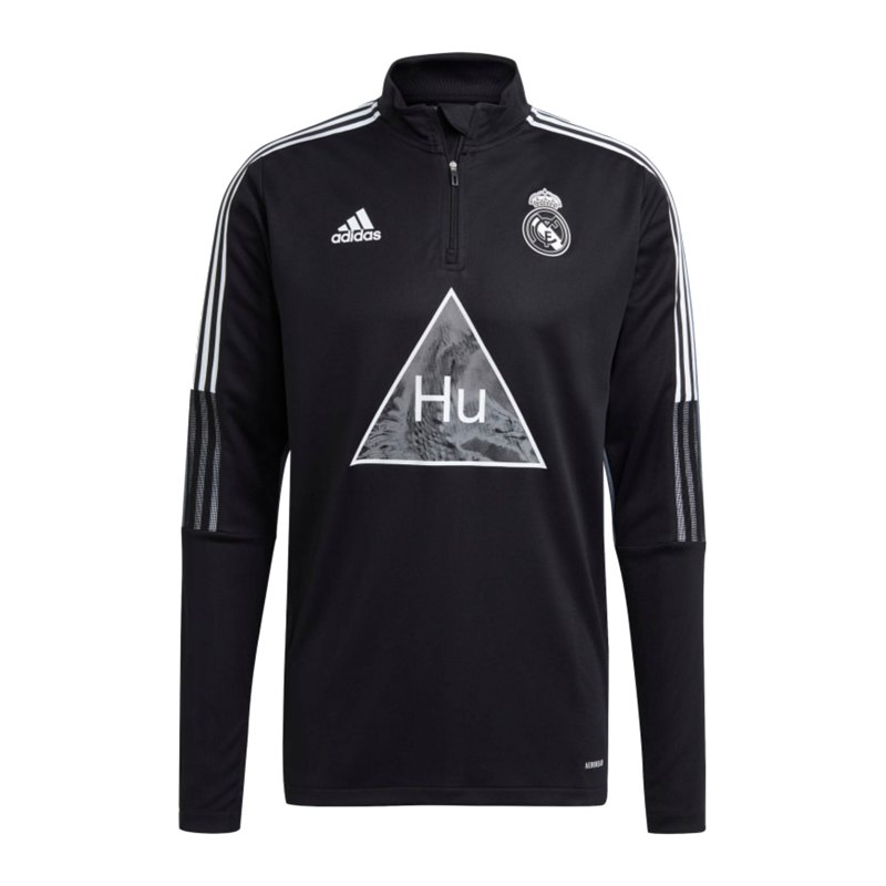 adidas Real Madrid Human Race Trainingstop Schwarz Schwarz - schwarz