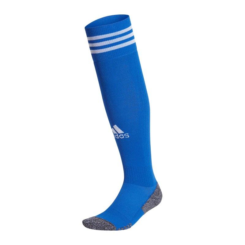 adidas Adisock 21 Strumpfstutzen Blau Weiss - blau
