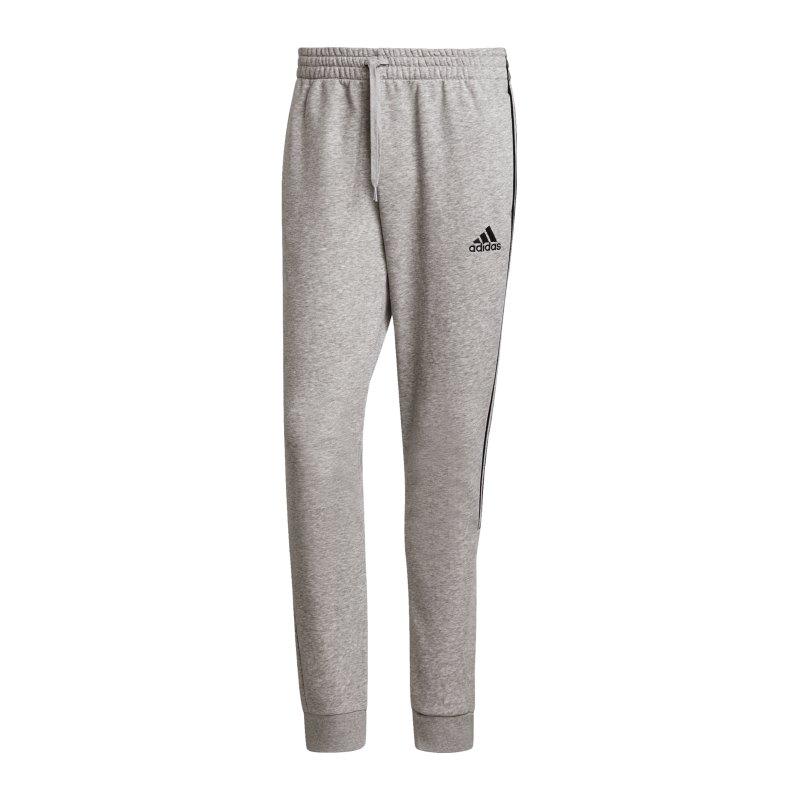 adidas M Cut 3S Jogginghose Grau Schwarz - grau