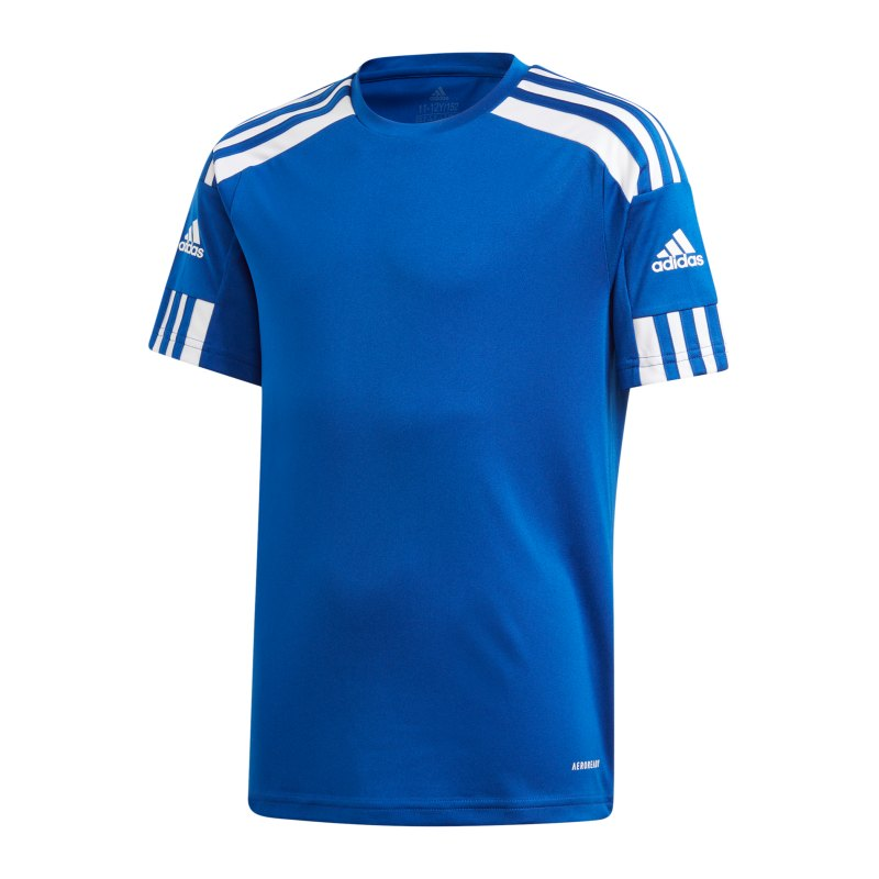 adidas Squadra 21 Trikot Kids Blau Weiss - blau