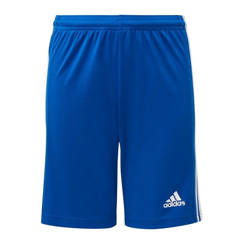 adidas Squadra 21 Short Kids Blau Weiss - blau
