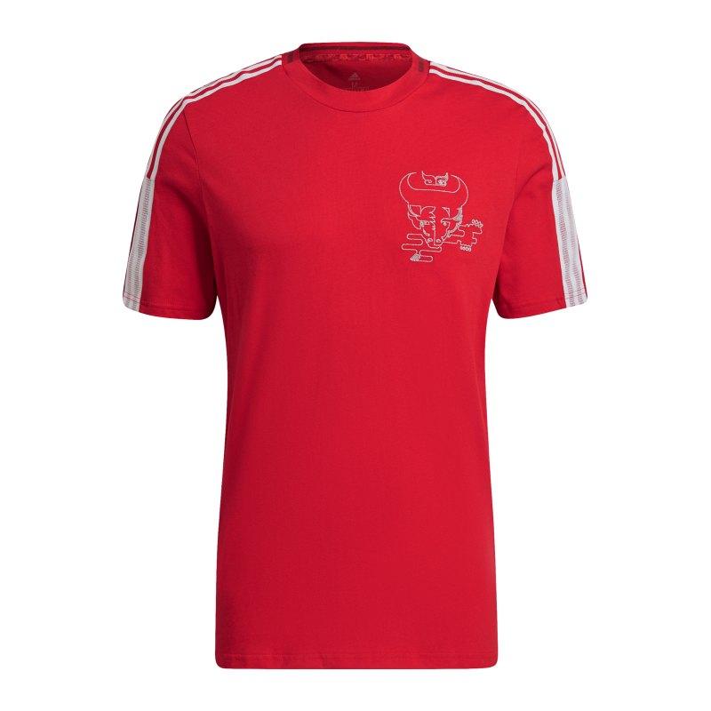adidas FC Arsenal London CNY T-Shirt Rot - rot