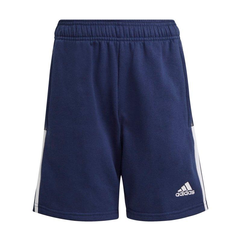 adidas Tiro 21 Sweat Short Kids Dunkelblau - blau