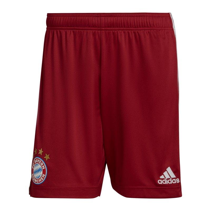 adidas FC Bayern München Short Home 2021/2022 Rot - rot