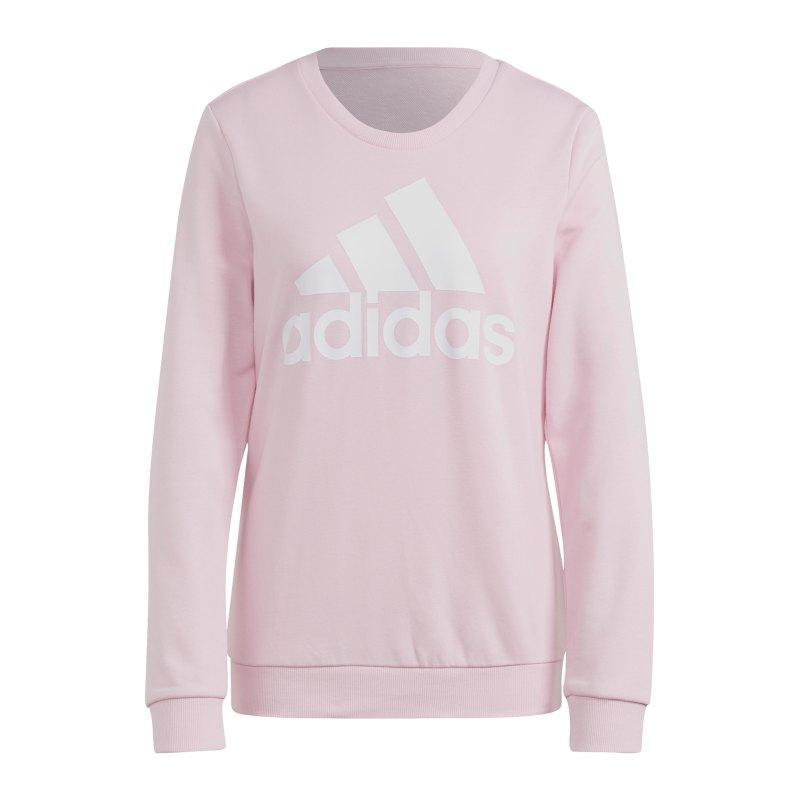 adidas Essentials Sweatshirt Damen Rosa Weiss - pink