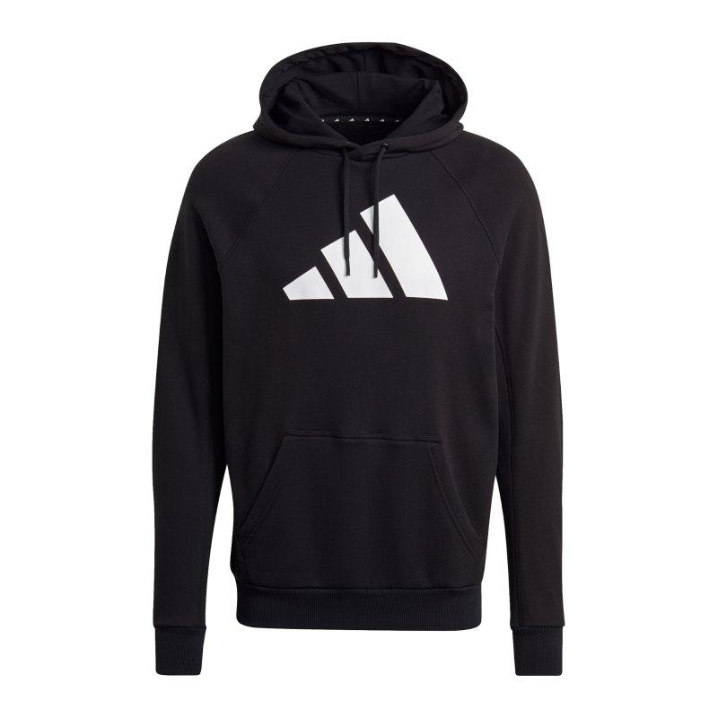 adidas M FI Hoody Schwarz Weiss - schwarz